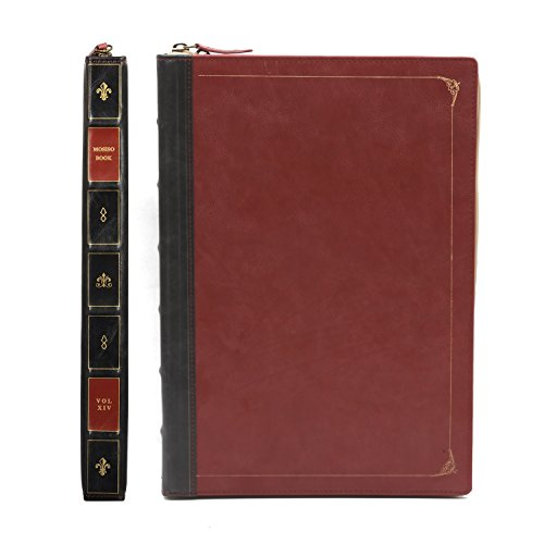 MOSISO PU Leather Zippered Case Only for MacBook Pro 13 Inch with Retina Display No CD-ROM (A1502 / A1425, Version 2015/2014 / 2013 / end 2012), Vintage Classic Premium Book Sleeve Cover, Wine Red by MOSISO (Image #4)