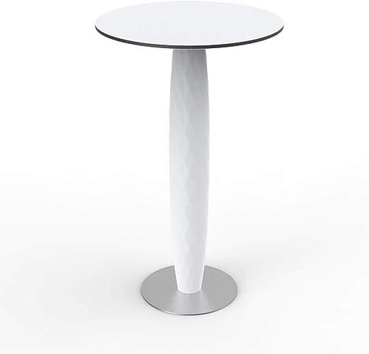 Vondom Vases table haute 100 cm avec base inox et surface ...