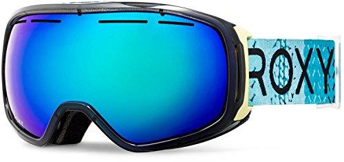 Roxy Rockferry Snow Goggles, Aruba Blue/Lizzy Dots, One Size (Uv Roxy Sunglasses Protection)