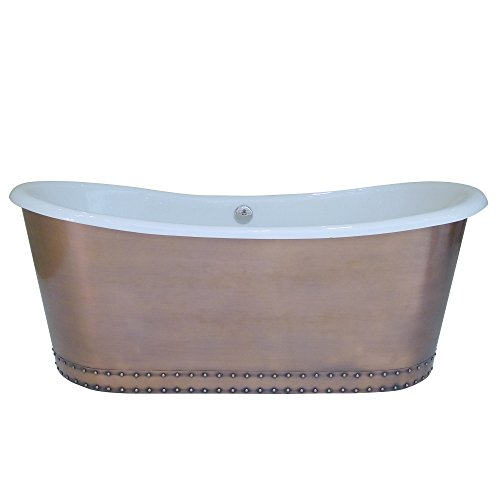 MCM3 Freestanding Cast Iron Skirted Bathtub,Golden,78''x31''29''-OD 29' Bath
