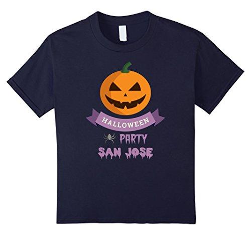 Halloween Costumes San Jose (Kids San Jose Scary Pumpkin Local Halloween Party T Shirt 12 Navy)
