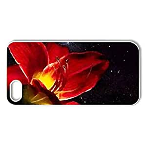 SHOOTING STAR FLOWER - Case Cover for iPhone 5 and 5S (Flowers Series, Watercolor style, White)
