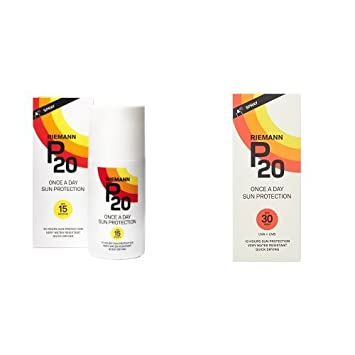Riemann P20 Once a Day 10 Hours Protection SPF15 Sunscreen 200ml & Riemann P20 Once a Day 10 Hours Protection SPF30 Sunscreen 200ml Duo Set