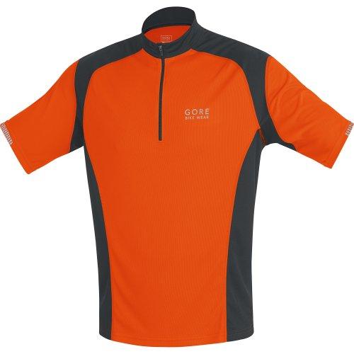 Gore Bike Wear Men's Path Passion Jersey, Blaze Orange/Black, (Gore Bike Wear Mesh Jersey)