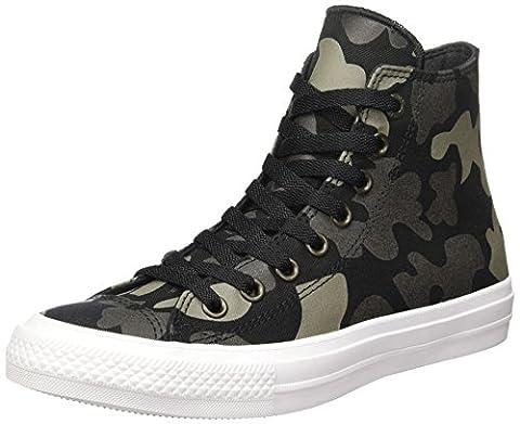 Converse Unisex Chuck Taylor All Star II Reflective Camo Hi Top Sneaker (7.5 Men/Women 9.5, Charcoal)