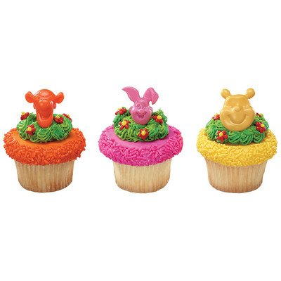 CakeDrake Winnie the Pooh Friends Piglet Eeyore Tigger (12) Party Cupcake Pics Picks Decor (Pics Of Winnie The Pooh And Piglet)