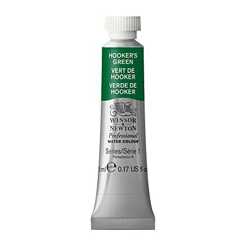 Winsor & Newton Professional Water Colour Paint, 5ml tube, Hooker's Green