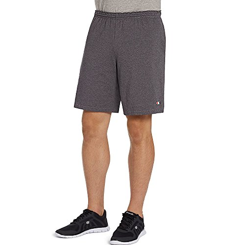 Champion Authentic Cotton 9-Inch Men's Shorts with Pockets_Granite Heather_XL