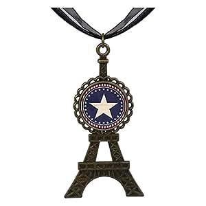 Chicforest Bronze Retro Style Memorial Day Remembrance Eiffel Pendant