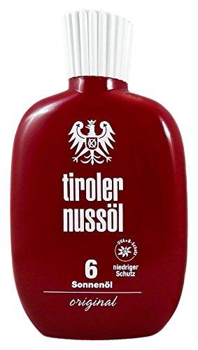 Original Tiroler Nussöl Sonnenöl wasserfest LSF 6, 150 ml 4250297400045