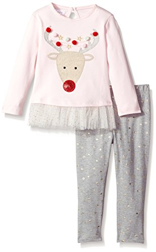 Mud Pie Reindeer (Mud Pie Baby Girls' Holiday Tunic and Leggings Two Piece Playwear Set, Reindeer, 9-12 MOS)