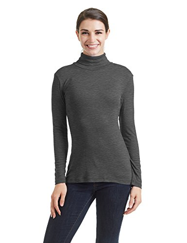 Come Together California CTC Womens Lightweight Long Sleeve Rib Turtleneck Top Pullover Sweater - Made in USA