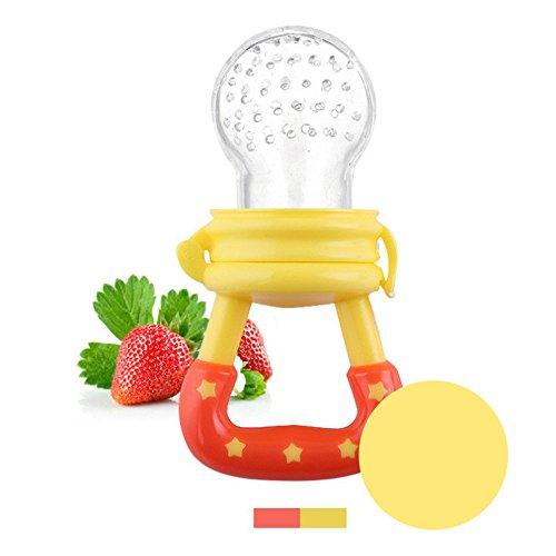 Baby Weaning Tool Baby Feeding Fresh Safe Food Feeder Nibbler Safety (yellow)