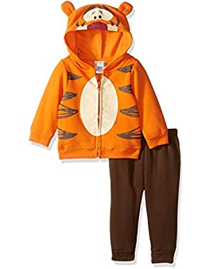 Baby Boys' 2-Piece Tigger Costume Sweatershit with Fleece Pant Set