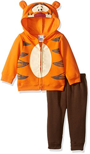 Disney Baby Boys' 2-Piece Tigger Costume Sweatershit with Fleece Pant Set, Orange, 0/3 (Tigger Costume Toddler)