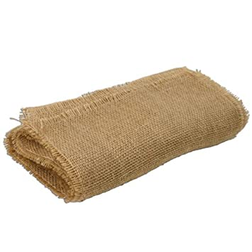 LinenTablecloth Square Jute Tablecloth With Fringe Edge, 64 Inch