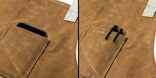 Readywares Waxed Canvas Utility Apron, Cross-back Straps (Tan) by Readywares (Image #3)