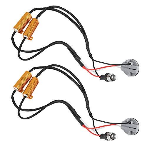 (LED Decoder, 2pcs 1157 LED Load Resistor Decoder Fog Brake Light Anti-Flicker Flash Error Canceler)