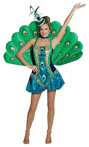 Rasta Women's Imposta Peacock Costume, Multi, (Peacock Tail Halloween Costume)