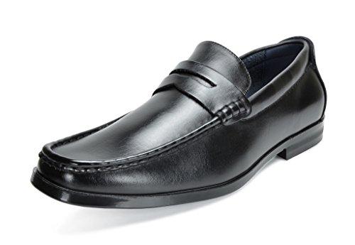 Bruno Marc Men's Harry-02 Black Pu Dress Penny Loafers Shoes - 11 M US