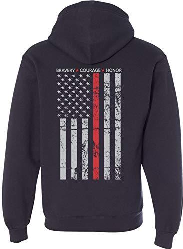 Patriot Apparel Thin Red Line Firefighter T-Shirt Hero Design ()
