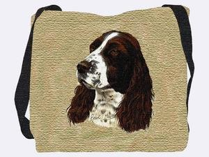 Pure Country Weavers English Springer Spaniel Tote Bag 1134-B 17 inches wide by 17 inches long, 100% cotton