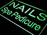 16''x12'' Nails Spa Pedicure Neon Sign LED Lights (green)