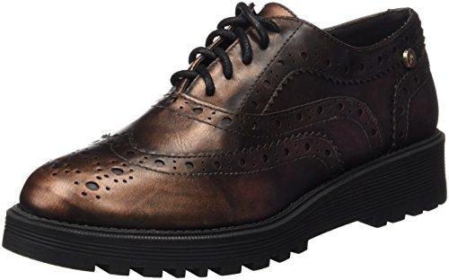 XTI Sra Metalizado Bronce, Zapatos de Cordones Oxford para Mujer Dorado (BRONCE)