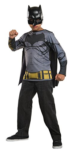 Rubie's Costume Batman v Superman: Dawn of Justice Batman Child Top, Small (Superman T Shirt With Cape)