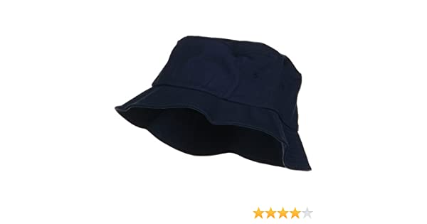 39afafcb56b One Size Flexfit Cotton Twill Bucket Hat - Navy at Amazon Men s Clothing  store