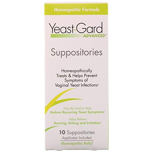 Yeast-Gard Advanced Homeopathic Suppositories 10 ea (Pack of 2)