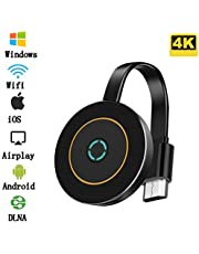 picK-me Wireless WiFi Display Dongle Adapter, 4K HDMI, 2.4GHz Audio and Video Sharing Media, Wireless Projection Compatible for iPhone, Android Smart Device to TV, Monitor or Projector