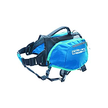 Outward Hound DayPak Dog Backpack Adjustable Saddlebag Style Hiking Gear for Dogs, Small, Blue