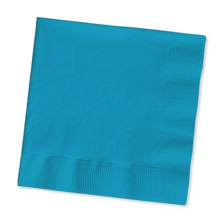 Creative Converting 100 Gorgeous Turquoise Lunch/Dinner Napkins for Wedding/Party/Event, 2ply, Disposable, Large Size 6.5
