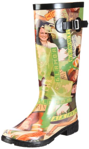 Nora Fashion 76366 - Botas de agua de caucho para mujer Verde