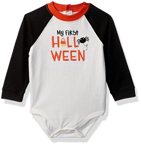 Gymboree Baby Boys Raglan Long Sleeve Bodysuit, Halloween, 6-12 (Gymboree Halloween Shirts)