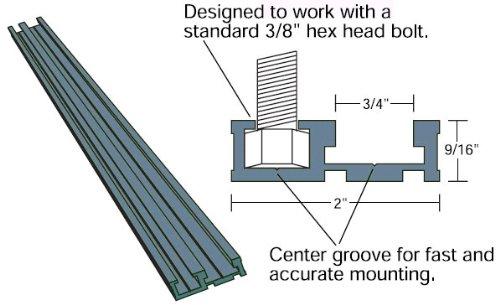 Woodline ADT547 48'' Miter Combo Track