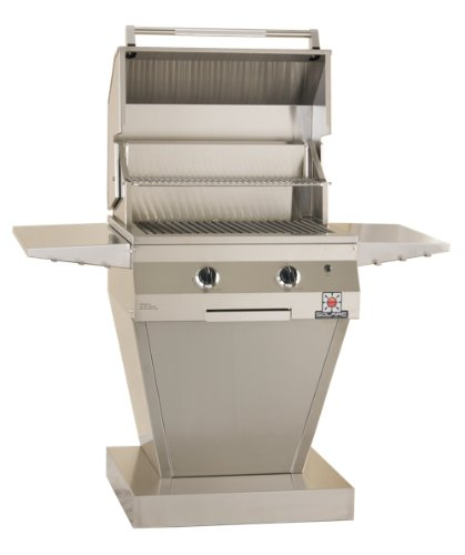 Solaire 27-Inch Deluxe Infrared Propane Pedestal Grill, Stainless Steel