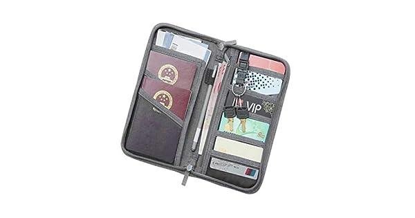 1467a64fc779 TOPBATHY Multi-function Travel Passport Wallet Credit Card ID ...