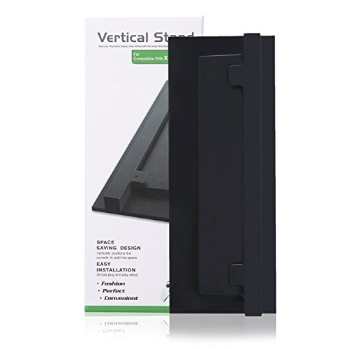 [HDE Vertical Stand for XBOX ONE S Console Non Slip Easy Install Upright Base (Black)] (Exhaust System Call)