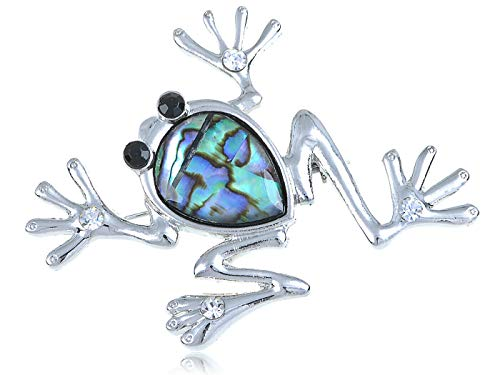 Lots Fashion Dragonfly Butterfly Abalone Shell Crystal Rhinestone Metal Brooches | Parttern - Style-9 ()