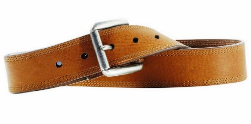 - Ariat Western Belt Mens Work Triple Stitch 36 Brown Sunshine A10004632