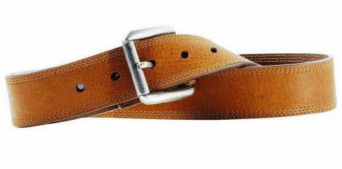 Ariat Western Belt Mens Work Triple Stitch 36 Brown Sunshine A10004632 Ariat Mens Work Belt