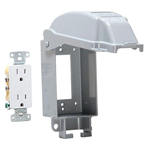 Taymac MD5881-0 1-Gang Vertical Mount Weatherproof Extra Duty While in Use Cover/Duplex Combo by TayMac