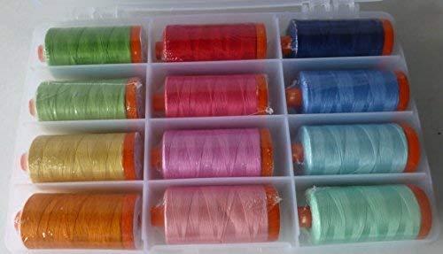 Thread, Aurifil Happy Colors Collection 50 wt. Large Spools 1420 Yds, by Aurifil