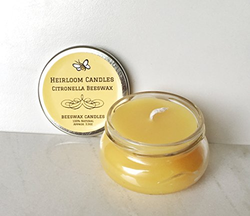 Citronella Beeswax Candle - Mosquito Repellent Candle - Hand