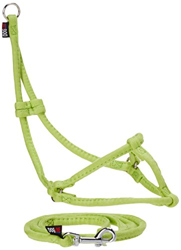 """Dogline Soft and Padded Comfort Microfiber Leash for Dogs XS (W1/4 x L36 x G10-16""""), Green from Dogline"""