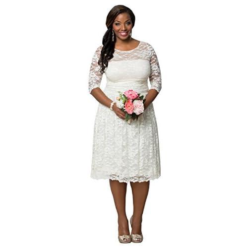 d8df6256b88 high-quality Kiyonna Women s Plus Size Aurora Lace Wedding Dress ...