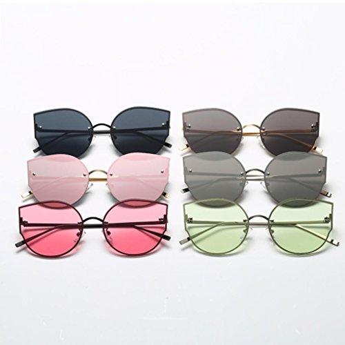 Gafas Espejo Mujer Colores de Gafas Gafas Elegante Mujeres Retro de Sol Transparentes Clásico Happy Fiesta Gato vendimia plateado Ojo day S1qawx77f