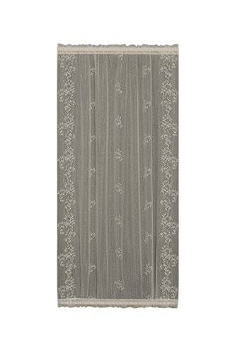 Heritage Lace Sheer Divine Door Panel, 42 by 63-Inch, Ecru ()